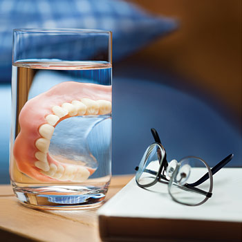 Denture in Glass.