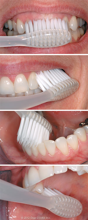 How to brush your teeth.