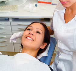 Dental patient relaxing